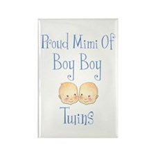 Proud Mimi Of Boy Twins Rectangle Magnet