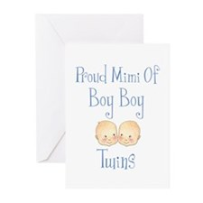 Proud Mimi Of Boy Twins Greeting Cards (Pk of 10)