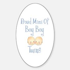 Proud Mimi Of Boy Twins Oval Decal