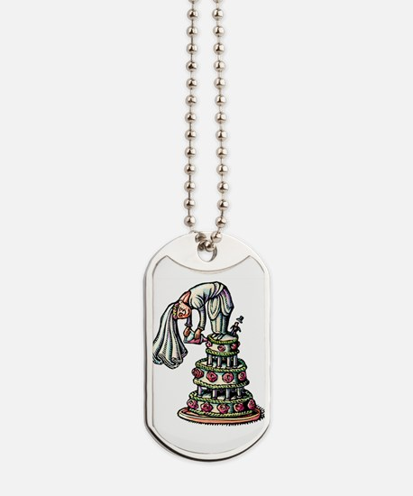 Bride Decorates Her Own Wedding Cake Dog Tags