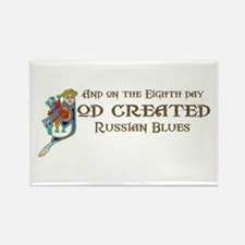 God Created Blues Rectangle Magnet