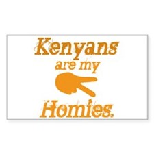 Kenyans are my HOmies Rectangle Decal