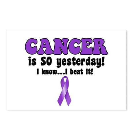 Cancer is SO Yesterday Postcards (Package of 8)