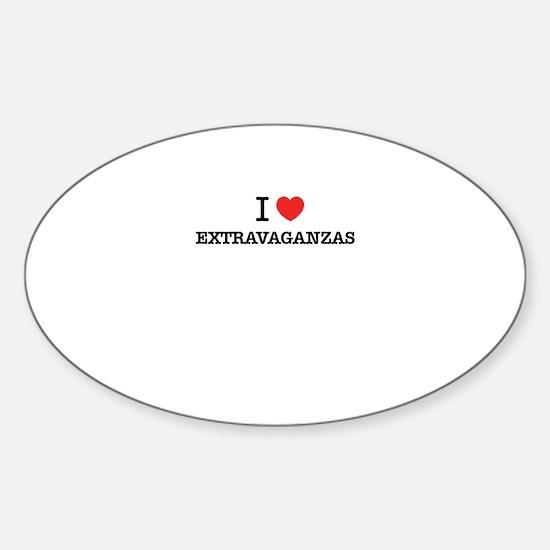 I Love EXTRAVAGANZAS Stickers