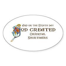 God Created Shorthairs Oval Decal