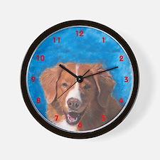 Nova Scotia Duck Tolling Retr Wall Clock