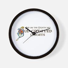 God Created Ocicats Wall Clock