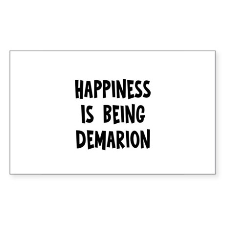 Happiness is being Demarion Rectangle Sticker