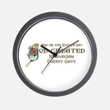 God Created Wegies Wall Clock