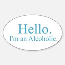 Hello - Alcoholic Blue Decal