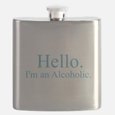 Hello - Alcoholic Blue Flask