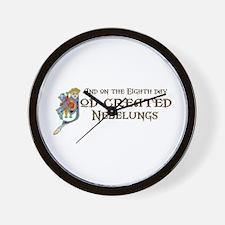 God Created Nebelungs Wall Clock