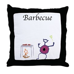 Barbecue Cave Critters Throw Pillow