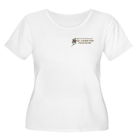 God Created Munchkins Women's Plus Size Scoop Neck