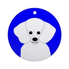 Poodle (White) Ornament (Round)