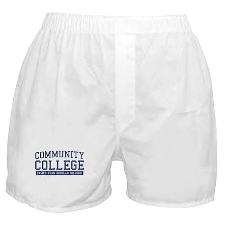 community college. it's easier! Boxer Shorts