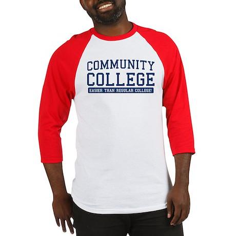 community college. it's easier! Baseball Jersey