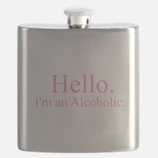 Hello - Alcoholic Pink Flask