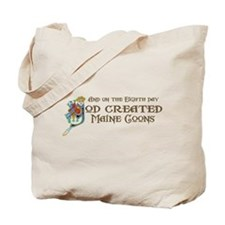 God Created Maine Coons Tote Bag