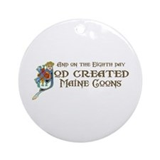 God Created Maine Coons Ornament (Round)