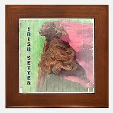 Irish Setter - Agility 2 Framed Tile