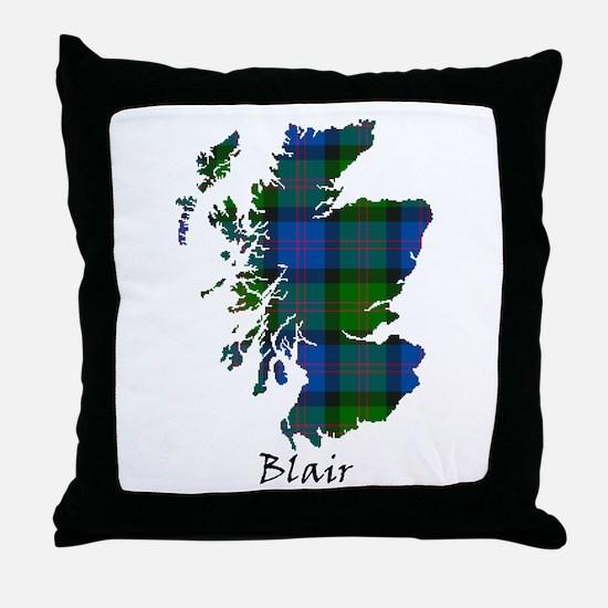 Map - Blair Throw Pillow