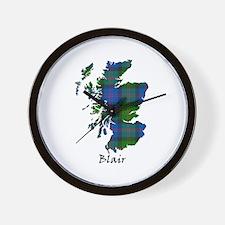Map - Blair Wall Clock