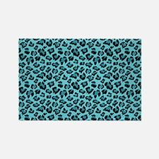 Teal Leopard Spots Magnets