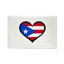 Puerto Rico Love Heart Rectangle Magnet