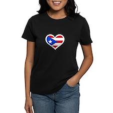 Puerto Rico Love Heart Tee