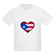 Puerto Rico Love Heart T-Shirt
