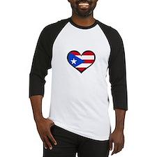 Puerto Rico Love Heart Baseball Jersey