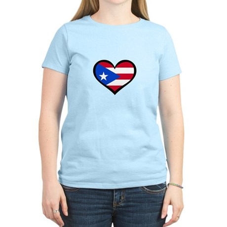 Puerto Rico Love Heart Women's Light T-Shirt