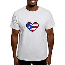 Puerto Rico Love Heart T-Shirt