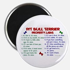 """Pit Bull Terrier Property Laws 2 2.25"""" Magnet (100"""