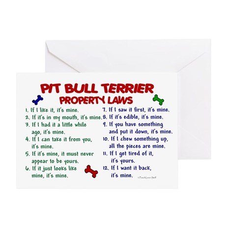 Pit Bull Terrier Property Laws 2 Greeting Card