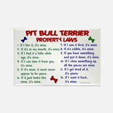Pit Bull Terrier Property Laws 2 Rectangle Magnet