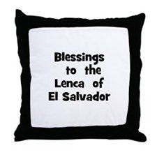 Blessings  to  the  Lenca  of Throw Pillow