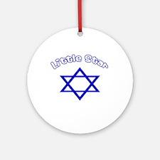 Little Star-blue Ornament (Round)