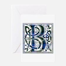 Monogram - Blair Greeting Card