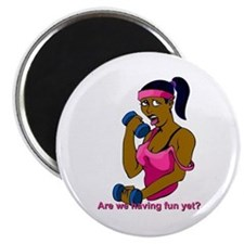 """black woman fitness 2.25"""" Magnet (10 pack)"""