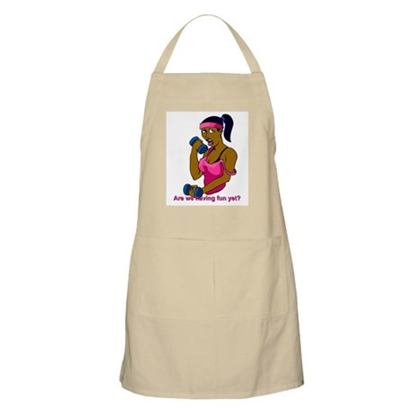 black woman fitness BBQ Apron
