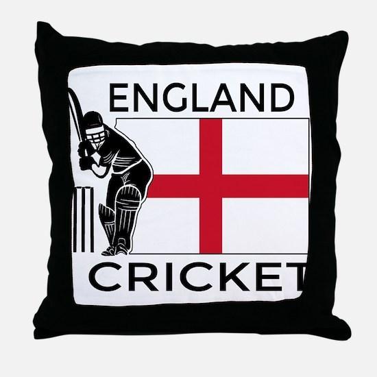 England Cricket Throw Pillow