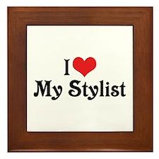 I Love My Stylist Framed Tile