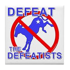 Defeat Defeatist Democrats Tile Coaster