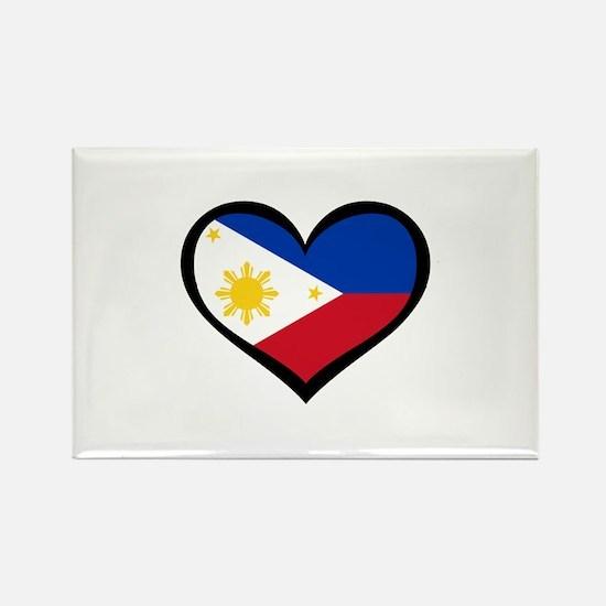 Filipino Love Rectangle Magnet