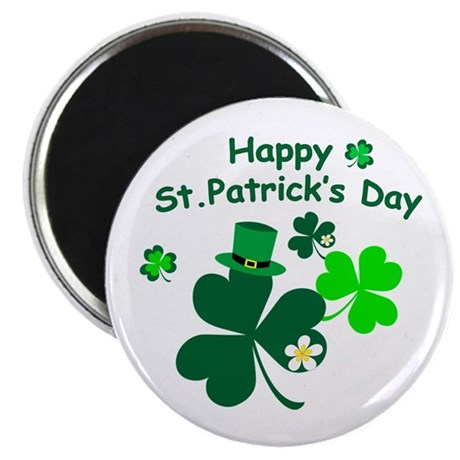 """Happy St. Patrick's Day 2.25"""" Magnet (100 pack)"""