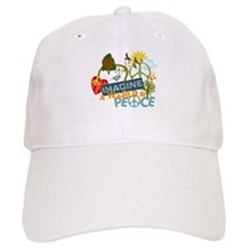 Imagine Peace Abtract Art Baseball Cap
