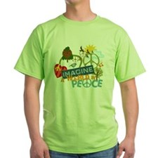 Imagine Peace Abtract Art T-Shirt