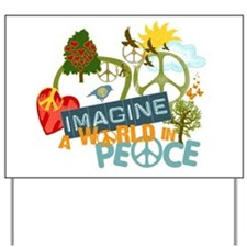 Imagine Peace Abtract Art Yard Sign